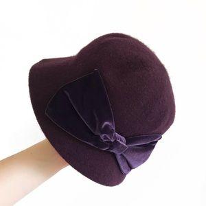 🌵 wool blend purple hat